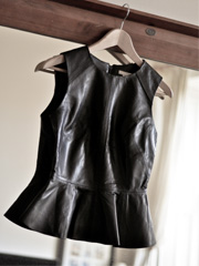 Leather peplum @ H&a...