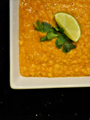 Red lentil coconut s...