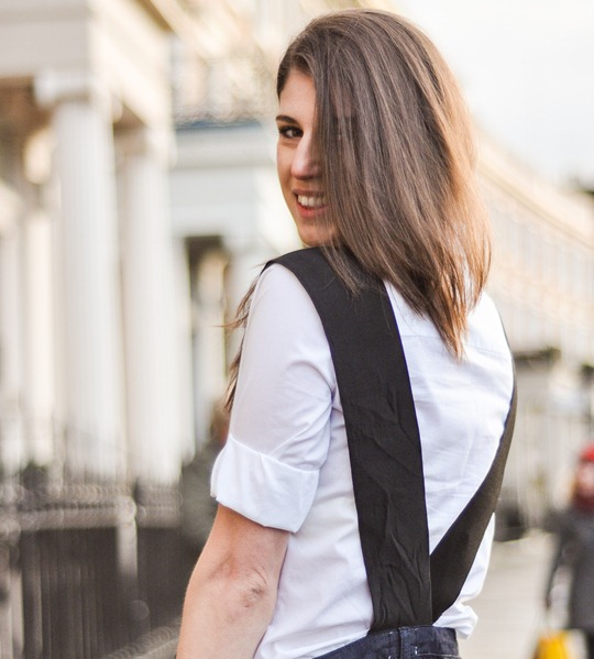 Thankfifi in Asos dungarees- back-1