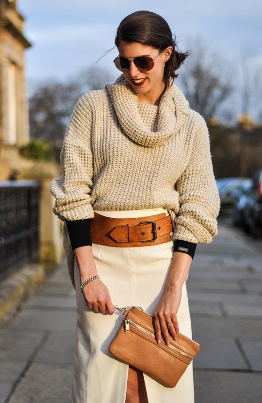 Thankfifi in Asos front split skirt-12