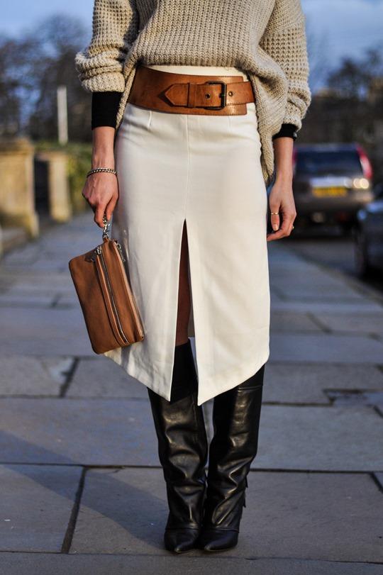 Thankfifi in Asos front split skirt-13