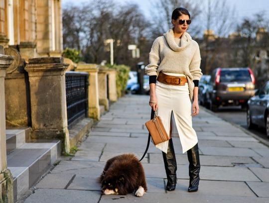 Thankfifi in Asos front split skirt-19