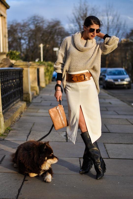 Thankfifi in Asos front split skirt-4