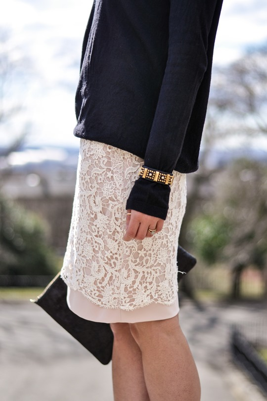 Thankfifi in French Connection lace skirt-10