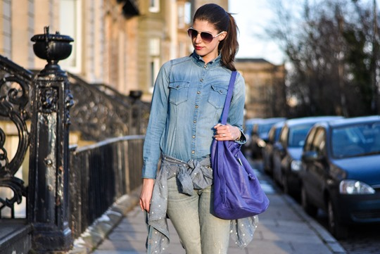 Thankfifi - triple denim & JCrew shoes-4