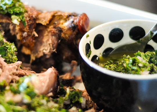 Thankfifi- 12 hour lamb with minted salsa verde and pomegranate pea salad-7