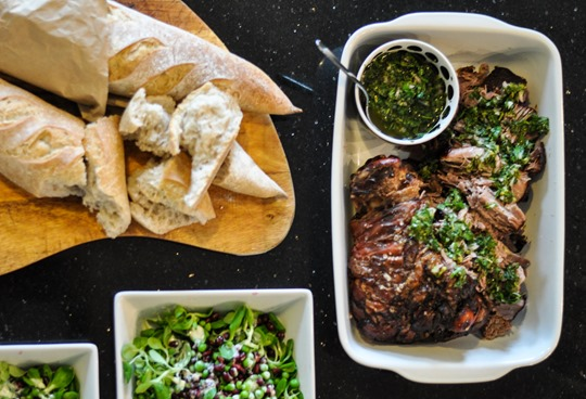 Thankfifi- 12 hour lamb with minted salsa verde and pomegranate pea salad-9