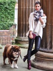 Leather + plaid = fo...