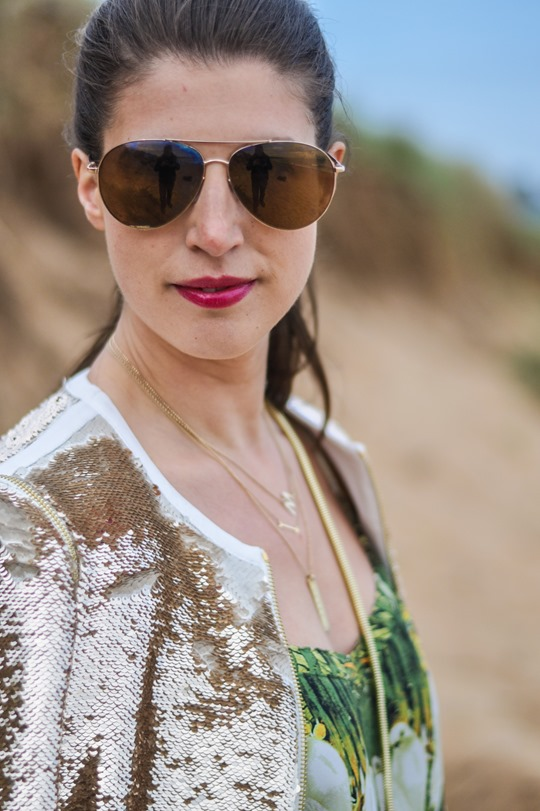 Thankfifi- Ted Baker Blubele sequin jacket &  palm print-13