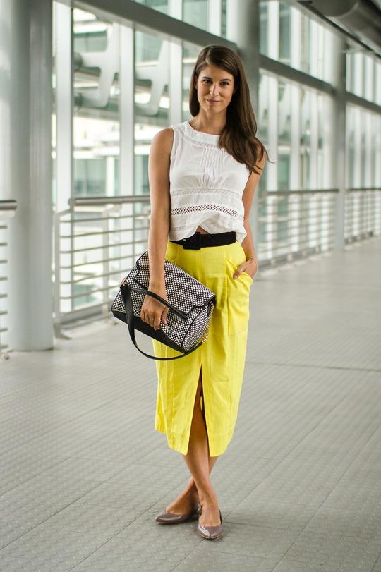 Thankfifi- Asos front split skirt, Petronas Towers