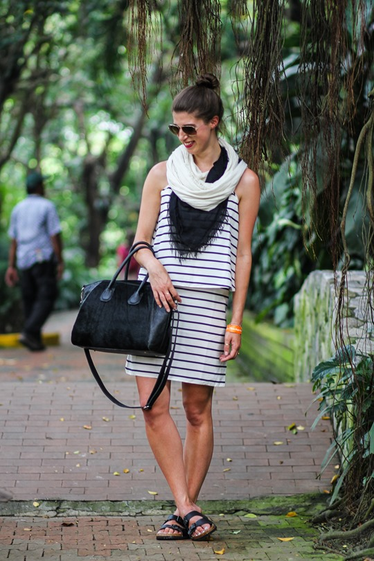 Thankfifi- Asos stripe dress & Next sliders, Kuala Lumpur Bird Park-3