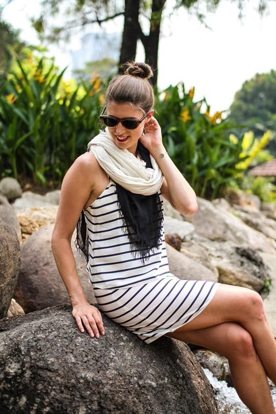 Thankfifi- Asos stripe dress & Next sliders, Kuala Lumpur Bird Park