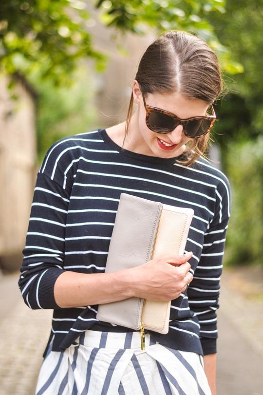 Thankfifi- Breton stripes streetstyle in Mango & Zara-3