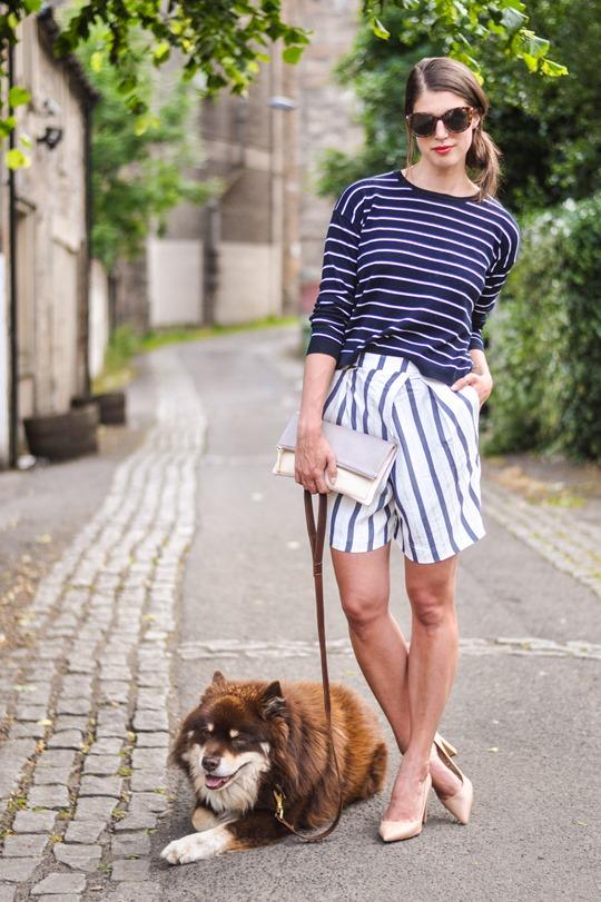 Thankfifi- Breton stripes streetstyle in Mango & Zara-5