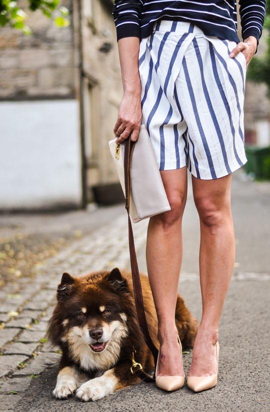 Thankfifi- Breton stripes streetstyle in Mango & Zara-7