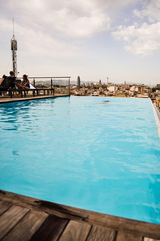 Thankfifi- Grand Hotel Central, Barcelona - rooftop pool Sky bar-9