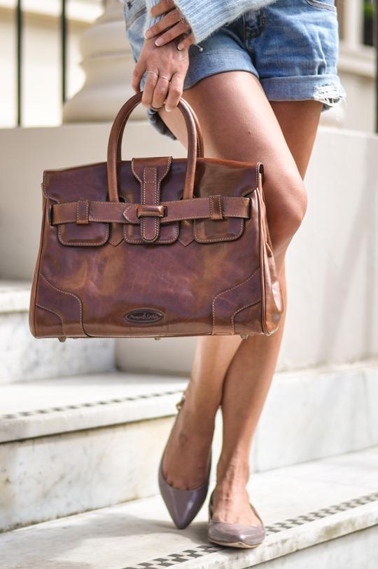 Thankfifi- Maxwell Scott leather tote bag & Armani Water Lilies sunglasses-11