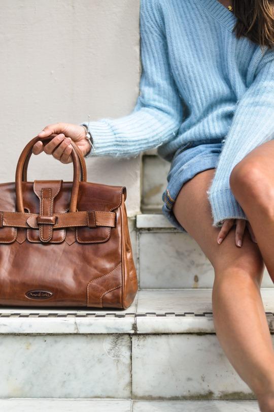 Thankfifi- Maxwell Scott leather tote bag & Armani Water Lilies sunglasses-8
