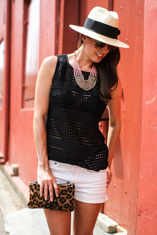 Thankfifi- Next broderie anglaise top, H&M fedora-5