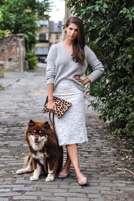 Thankfifi- Crochet lace midi skirt -fashion blogger streetstyle
