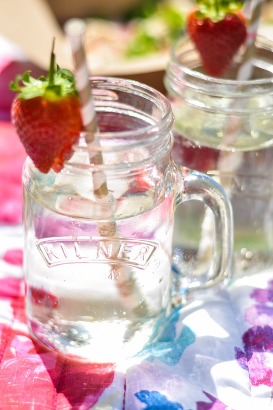 Thankfifi- Fashion blogger picnic - Castaway drink in Kilner jars & stripey straws-3