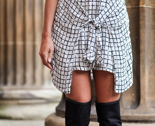Thankfifi- Missguided checked knotted shirt dress - fashion blogger streestyle-5