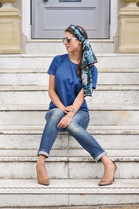 Thankfifi- double denim steetstyle & klements headscarf-14