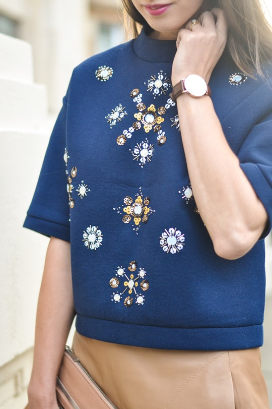 Thankfifi- H&M Trend sequin sweatshirt - fashion blogger streetstyle, London-4