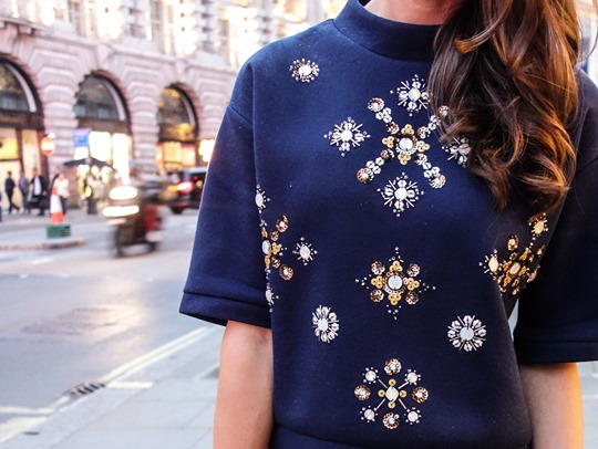 Thankfifi- H&M Trend sequin sweatshirt - fashion blogger streetstyle, London-8