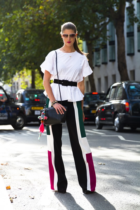 Thankfifi - London Fashion Week in Elizabeth & James colourblock trousers - fashion blogger streetstyle - ph Nancy Gibbs - V