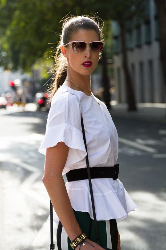 Thankfifi - London Fashion Week in Elizabeth & James colourblock trousers - fashion blogger streetstyle - ph Nancy Gibbs - VII