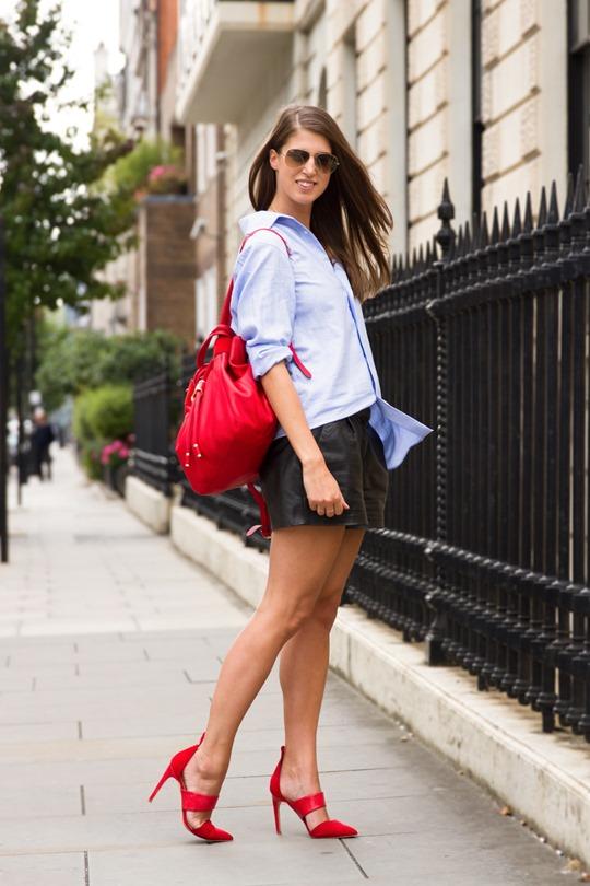 Thankfifi- London fashion week AW15 in Reiss man shirt & LK Bennett backpack - Ph Nancy Gibbs LFW