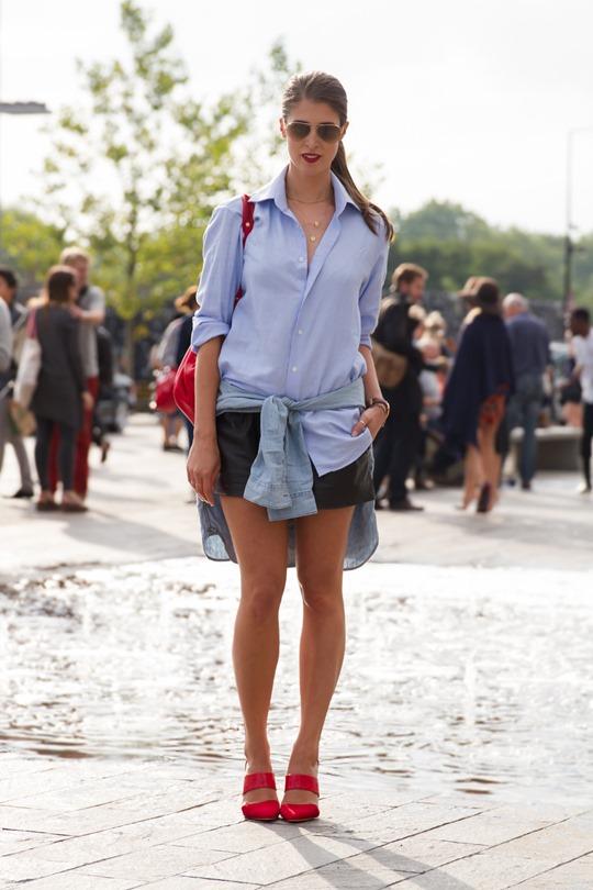 Thankfifi- London fashion week AW15 in Reiss man shirt & LK Bennett backpack - Ph Nancy Gibbs LFW-9
