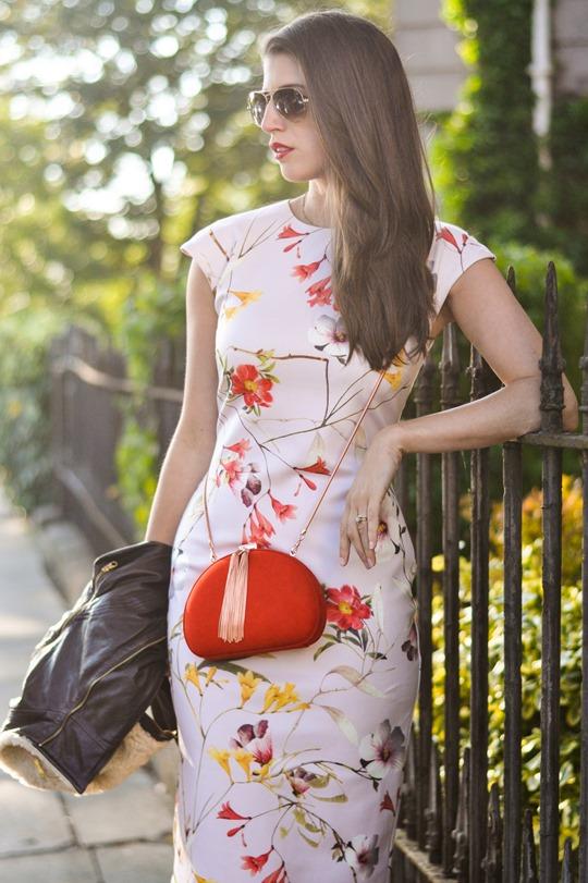 Thankfifi- PinteresTED in Furrly shealing jacket, Masi dress & Cierra red tassel clutch - fashion blogger streetstyle-13