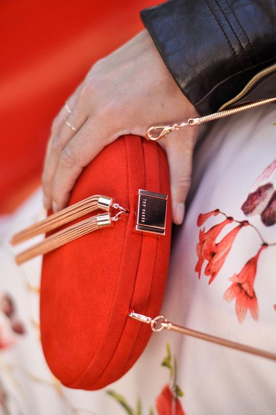 Thankfifi- PinteresTED in Furrly shealing jacket, Masi dress & Cierra red tassel clutch - fashion blogger streetstyle-11