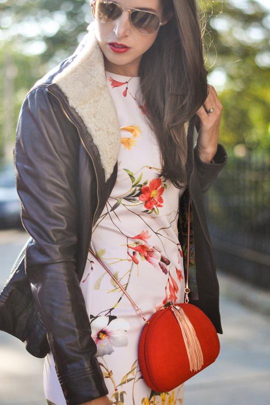 Thankfifi- PinteresTED in Furrly shealing jacket, Masi dress & Cierra red tassel clutch - fashion blogger streetstyle-7b