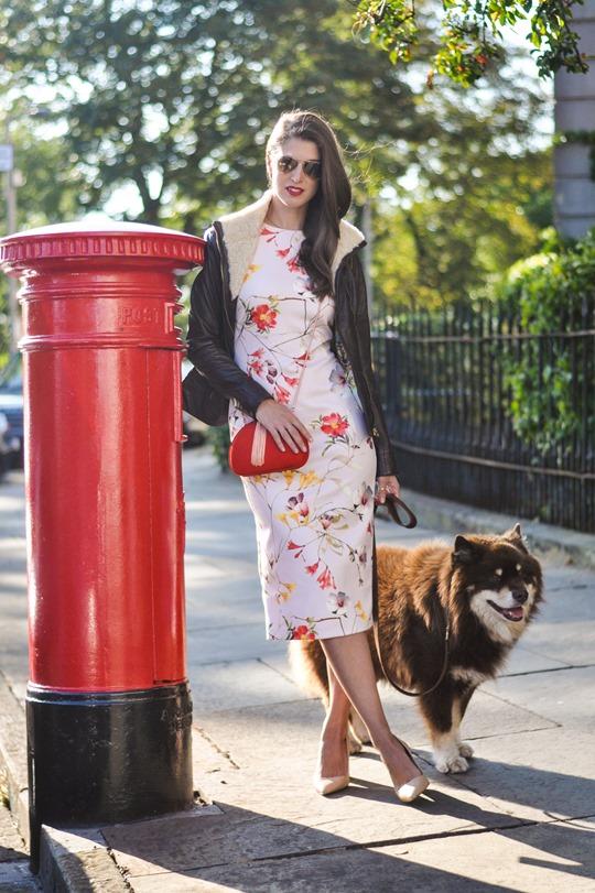 Thankfifi- PinteresTED in Furrly shealing jacket, Masi dress & Cierra red tassel clutch - fashion blogger streetstyle