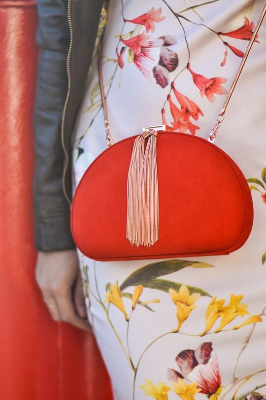 Thankfifi- PinteresTED in Furrly shealing jacket, Masi dress & Cierra red tassel clutch - fashion blogger streetstyle-10