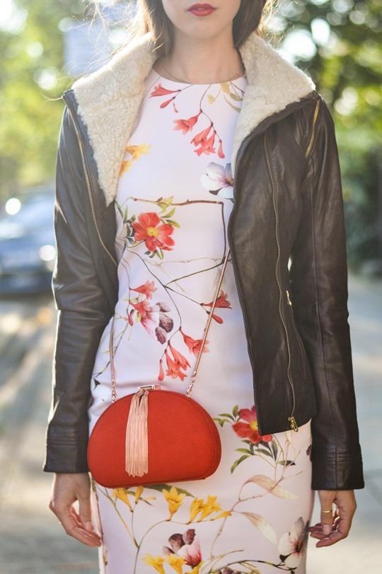 Thankfifi- PinteresTED in Furrly shealing jacket, Masi dress & Cierra red tassel clutch - fashion blogger streetstyle-6