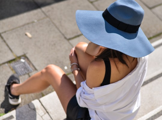Thankfifi- The River Island blue floppy hat - fashion blogger streetstyle-2