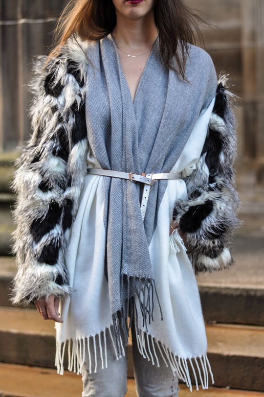 Thankfifi- Asos grey cream poncho cape 5 ways - fashion blogger style challenge-33