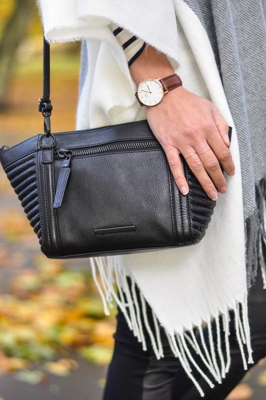 Thankfifi- Asos grey cream poncho cape 5 ways - fashion blogger style challenge-9