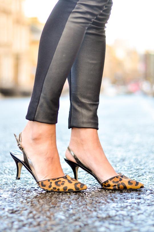 Thankfifi- Boden leopard slingbacks & Hallhuber leather leggings - fashion blogger streetstyle-11