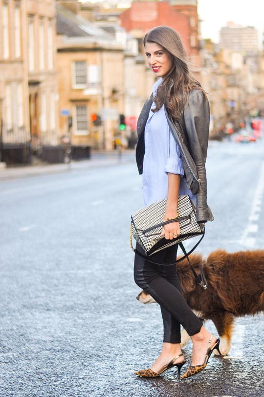 Thankfifi- Boden leopard slingbacks & Hallhuber leather leggings - fashion blogger streetstyle-2