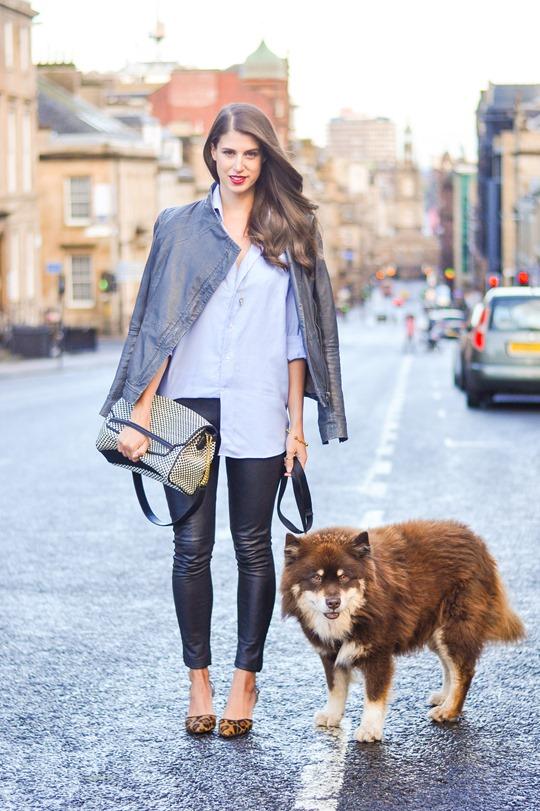 Thankfifi- Boden leopard slingbacks & Hallhuber leather leggings - fashion blogger streetstyle