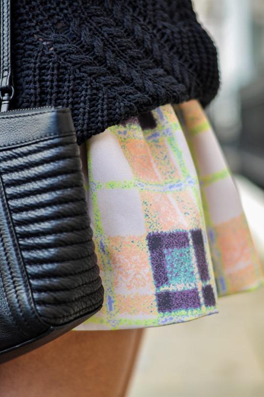 Thankfifi- Finders Keepers Strange Fire Tartan Creampuff dress w Sophia Webster over knee boots-12