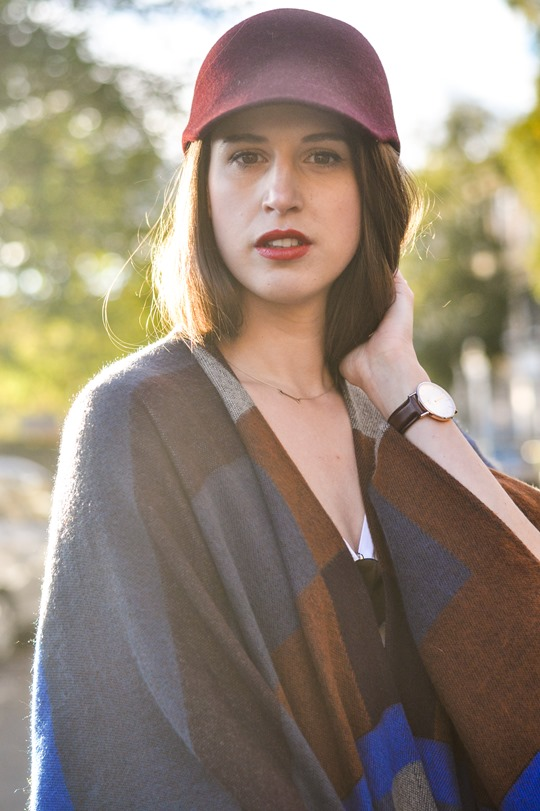 Thankfifi- Marks & Spencer high street Burberry poncho replica - fashion blogger streetstyle-10
