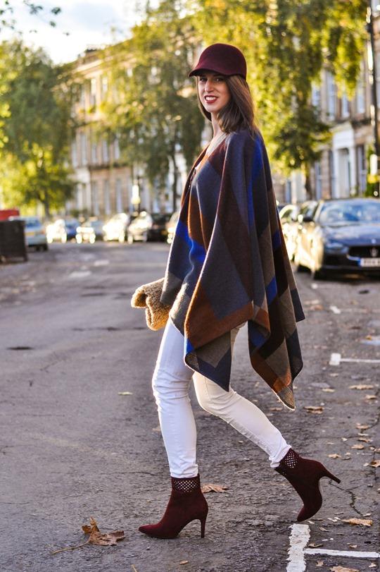 Thankfifi- Marks & Spencer high street Burberry poncho replica - fashion blogger streetstyle-18