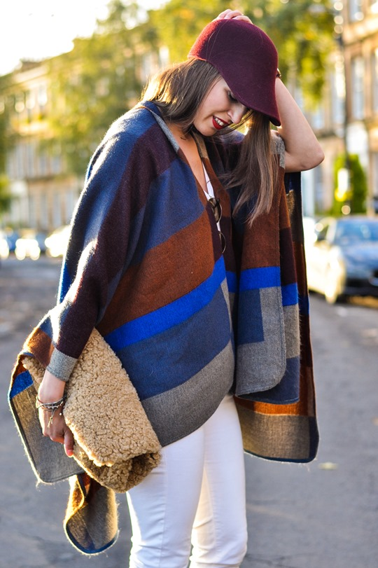 Thankfifi- Marks & Spencer high street Burberry poncho replica - fashion blogger streetstyle-4