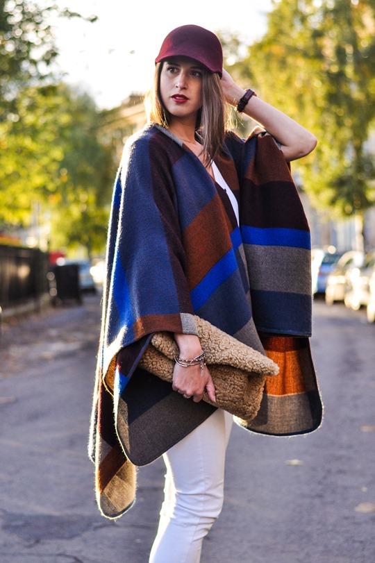 Thankfifi- Marks & Spencer high street Burberry poncho replica - fashion blogger streetstyle-5